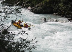 kayaking(0.0), whitewater kayaking(0.0), boat(0.0), vehicle(1.0), sports(1.0), rapid(1.0), river(1.0), recreation(1.0), outdoor recreation(1.0), kayak(1.0), boating(1.0), extreme sport(1.0), water sport(1.0), rafting(1.0),