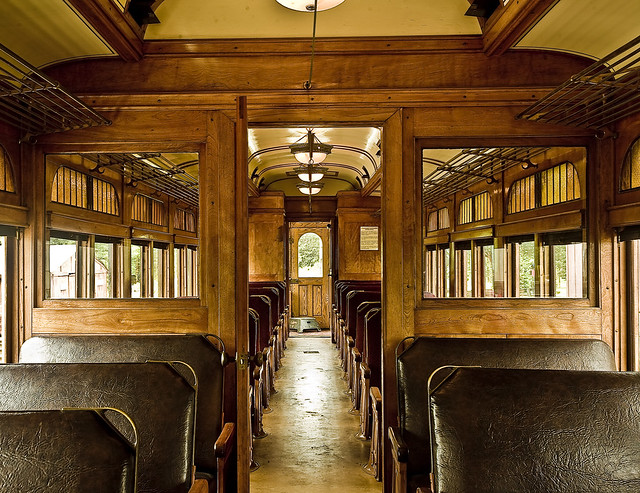 vintage train interior classy old leather and wood halton flickr photo sharing. Black Bedroom Furniture Sets. Home Design Ideas