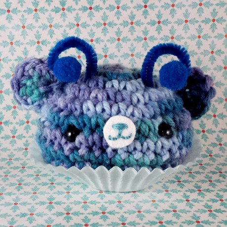 Amigurumi Blue alien cupcake bear Flickr - Photo Sharing!