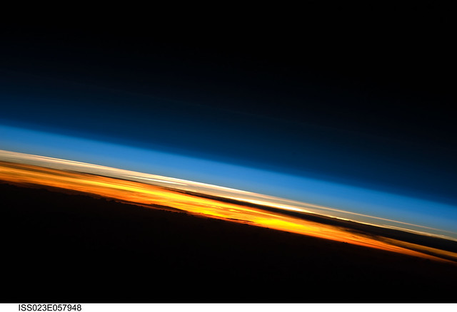 Sunset Over the Indian Ocean (NASA, International Space Station Science, 05/25/10)