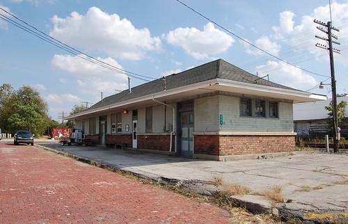 railroad station indiana depot csx 1907 randolphcounty newyorkcentralrr clevelandcincinnatichicagostlouisry