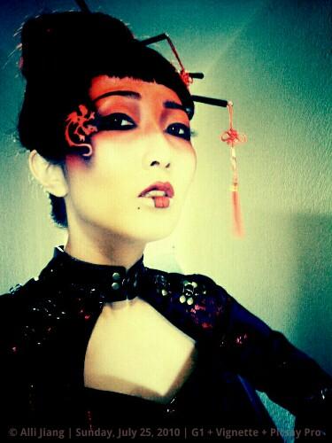 dragon makeup.