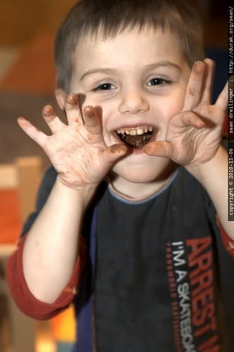 peaking: chocolate sugar high