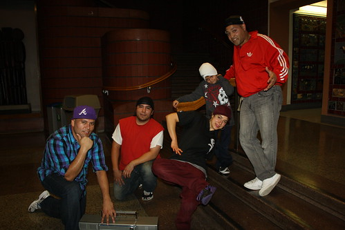 North City Rockers & Amigos... B-Boy Nesto, Dale, B-Girl Lee, Gabe and Pablo D At The Seattle Center House