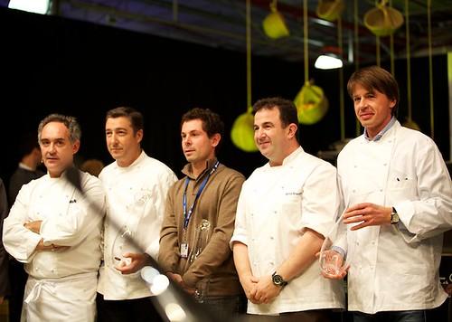 Ferran Adriá y otros chefs en El Bulli