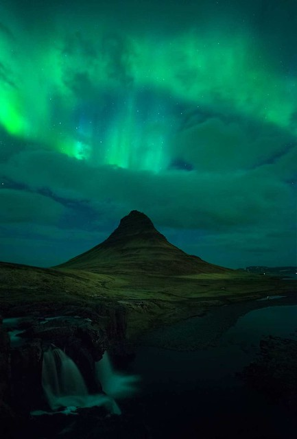 #adventure , Northern Lights above  🌍 Kirkjufell, Iceland |  Mital Patel