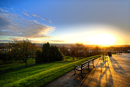 Brandon Hill - Sunset over Bristol