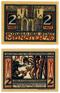 "German notgeld ""emergency money"" from Munster 1921"