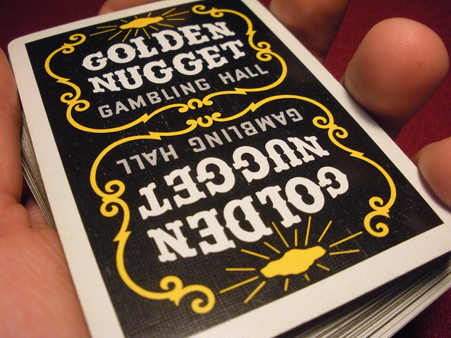 Golden nugget gambling hall playing cards