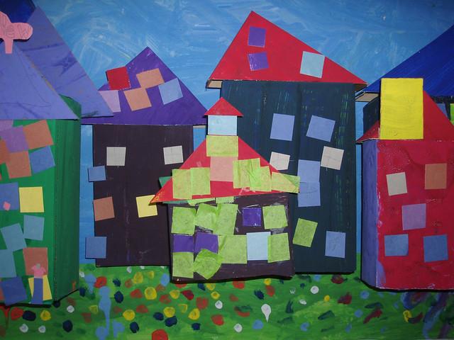 Kindergarten Mural / Recycled Art City