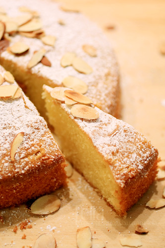Almond Cake With Buttercream Frosting Recipe