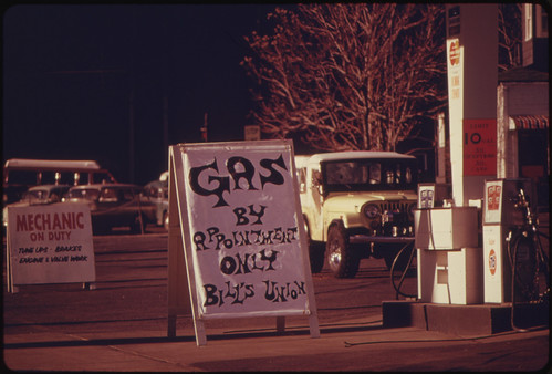 Gas by Appointment Signs Increased Each Day in Portland and Other Parts of Oregon until the State Put Into Effect the Odd-Even Gas Plan. Other States Also Adopted the Scheme to Decrease the Gas Lines 01/1974