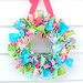 lilly pulitzer preppy rag wreath