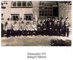1931, Schützenfest, König Franz Schmitz, SW024