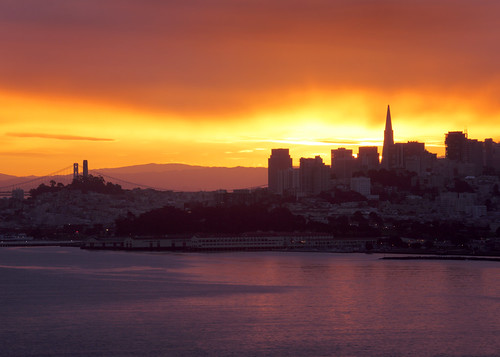 San Francisco Sunrise from the Golden Gate Bridge