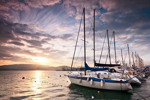 sunset landscape boat soe mywinners