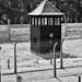 Auschwitz outside wall by Pat O'Brien Photo