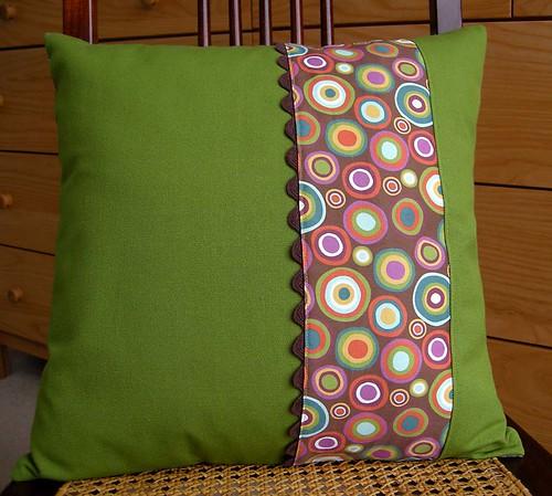 organic sateen and canvas throw pillow