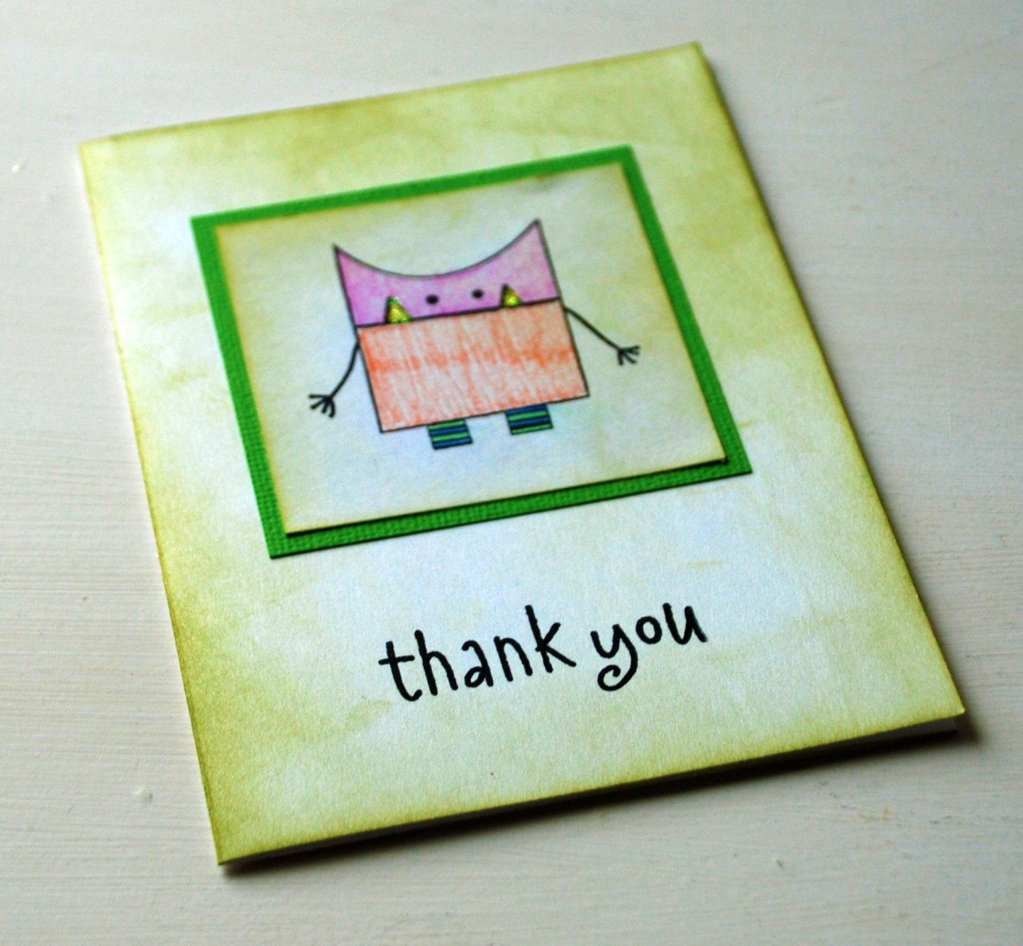 Monster thank you by AForestFrolic (stampinmom) on Flickr Used unmodified under CC BY 2.0 license