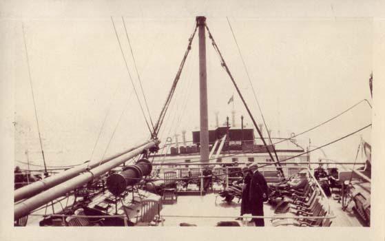 Trans-Atlantic voyage to England