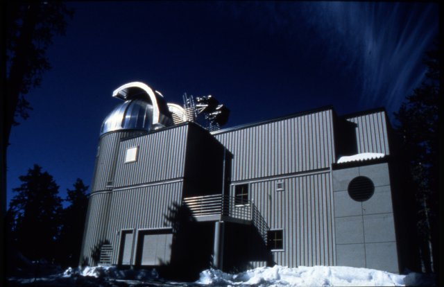 Exterior of Vatican Observatory in Winter