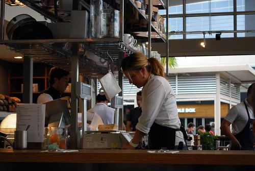 Waitress cutitng nougat - Jones the Grocer, Chadstone