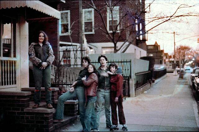 Boro Park Brooklyn Stoop Kids 1975 70s c