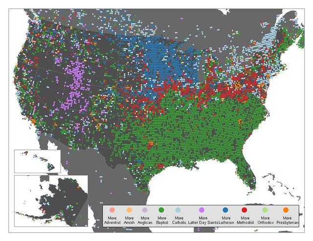 Christian Denominations in the United States | Mapping ...
