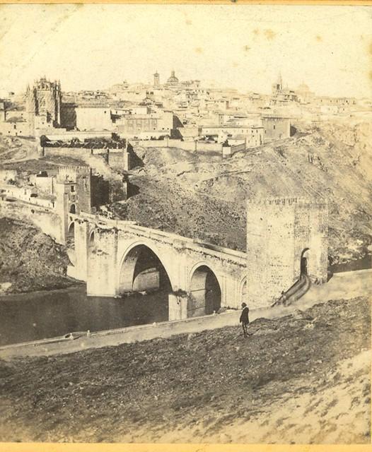 Puente de San Martín hacia 1860 por Ernest Làmy