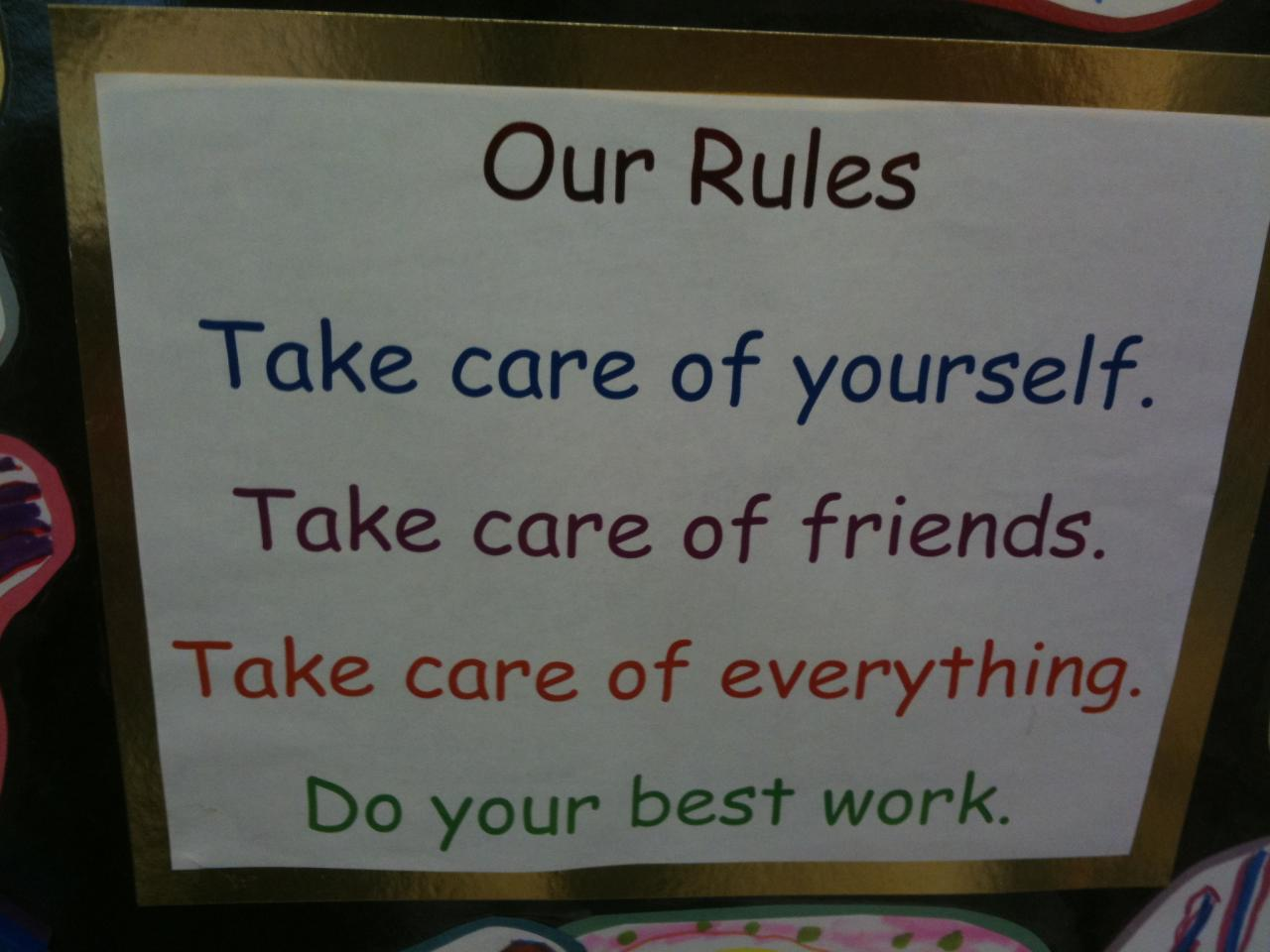Take care of yourself. Take care of friends. Take care of everything. Do your best work.