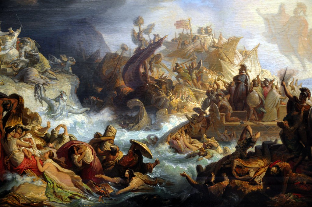 Wilhelm von Kaulbach - The Battle of Salamis at the Munich Neue Pinakothek