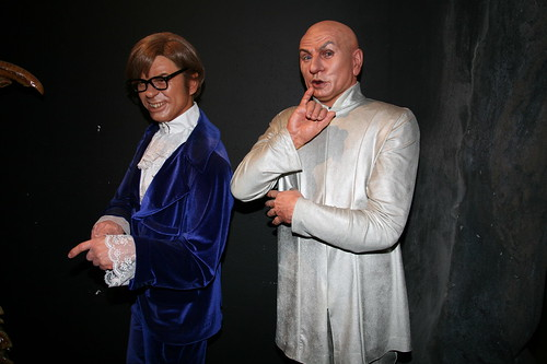Mike Myers as Austin Powers and Dr Evil