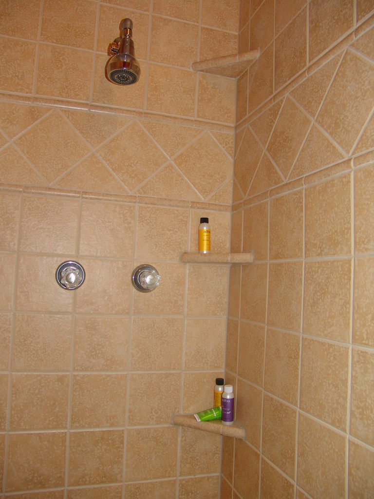 ceramic shower shelves shower shelves brown ceramic tile. Black Bedroom Furniture Sets. Home Design Ideas