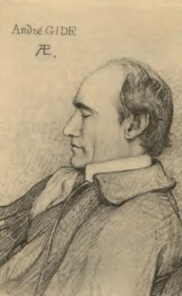 André Gide, de Paul-Albert Laurens, gravure, 1914