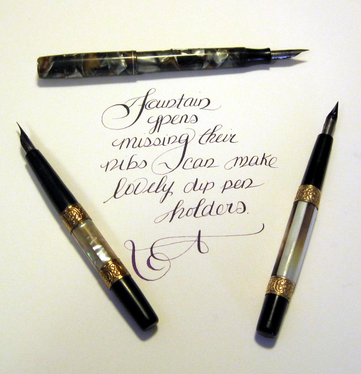 Dip Pen Nib In A Fountain Pen Fountain Dip Pens