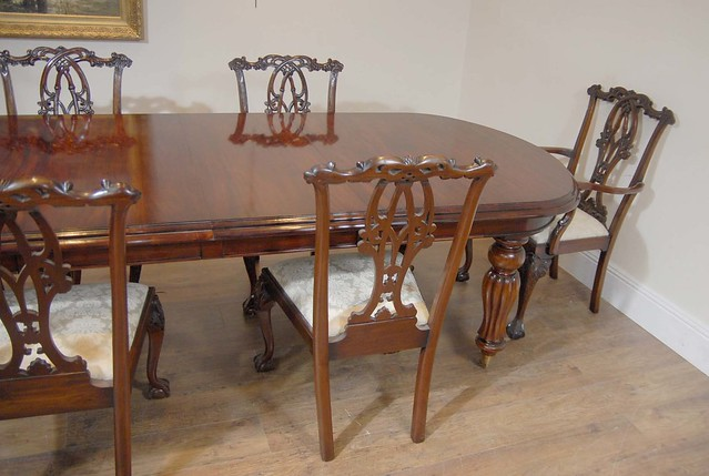 Victorian Dining Table Set Gothic Chippendale Chairs 6 Flickr Photo Sharing