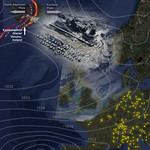 North European Aircraft Grounded by Icelandic Volcanic Ash / Dust Cloud - Composite Map Image