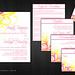 Pink and Yellow Wedding Invitations