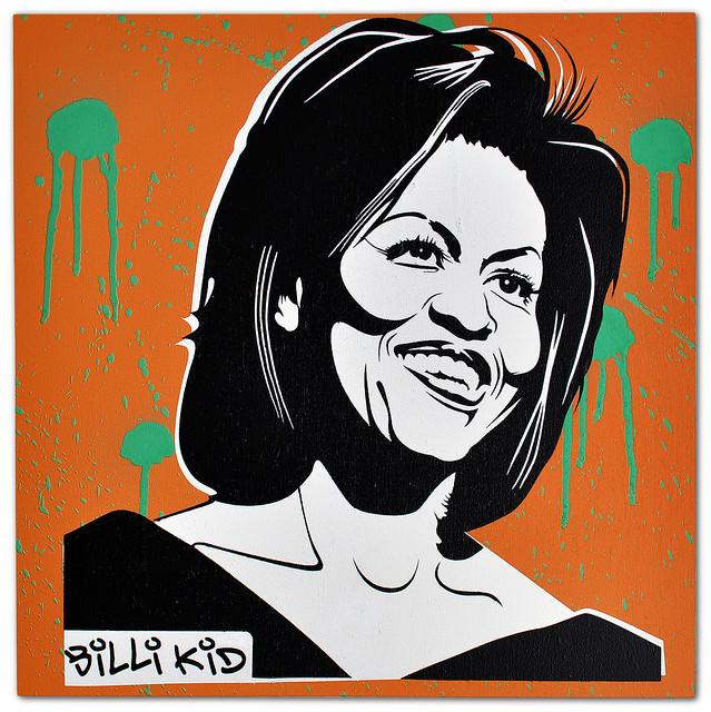 billi kid quotbilli kid michelle obama stencilquot flickr