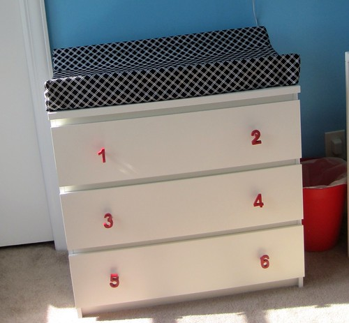 Stick legged girl diy bright modern nursery - Mobile malm ikea ...