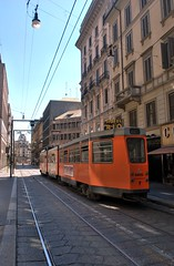 waiting for the right tram