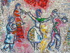 Chagall: musicians and dancer