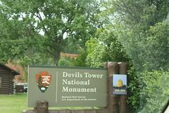 Entrance sign, Devils Tower National Monument