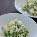 cauliflower 'pasta' with peas & ricotta