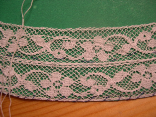 The lace yoke