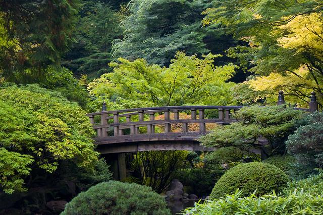 Portland japanese garden bridge flickr photo sharing for Japanese garden pond bridge