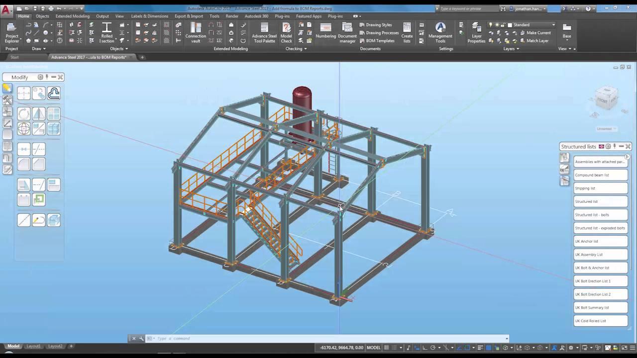 Design with Autodesk Advance Steel 2017 full