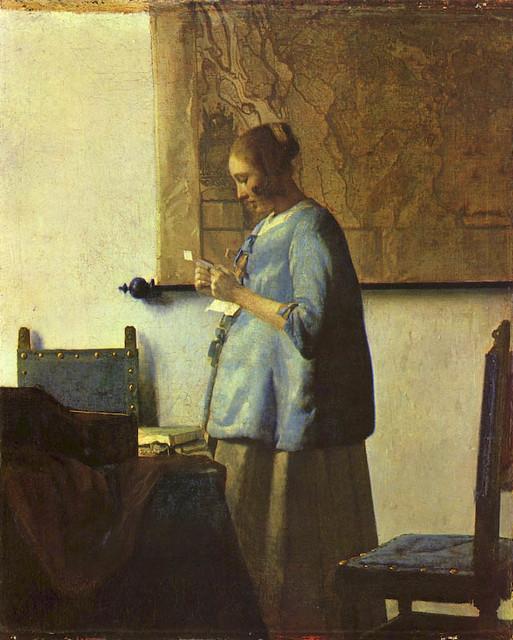 Vermeer En este cuadro de Vermeer, aparece una Mu