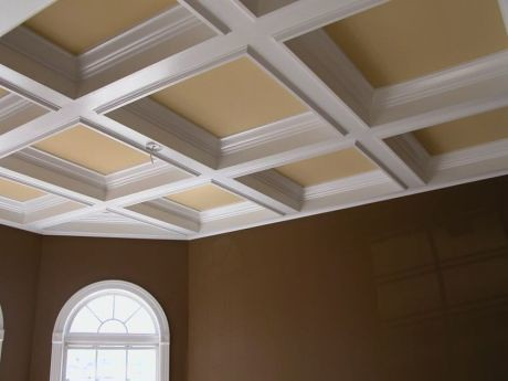 The coffered ceiling is subtle but elegant.  One of the many features of our Parade of Homes Peoples Choice Award winner.