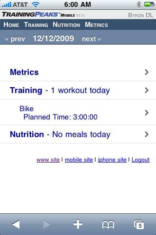 how to use training peaks app